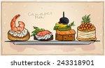 Seafood Canapes Set...