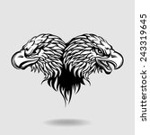 2 eagle heads forming a heart... | Shutterstock .eps vector #243319645