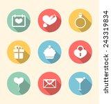 illustration trendy flat icons...