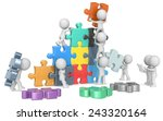 the team. the dude x 9 building ... | Shutterstock . vector #243320164