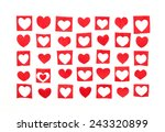 hearts of the red paper ... | Shutterstock . vector #243320899