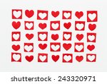 hearts of the red paper ... | Shutterstock . vector #243320971