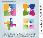 vector infographic template  ... | Shutterstock .eps vector #243333595