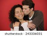 valentines day  happy man... | Shutterstock . vector #243336031