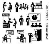business market survey analysis ... | Shutterstock . vector #243338404