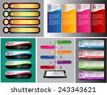 colorful modern text box... | Shutterstock .eps vector #243343621