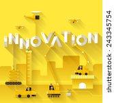 construction site crane... | Shutterstock .eps vector #243345754
