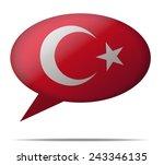 illustration speech bubble flag ... | Shutterstock .eps vector #243346135