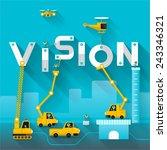 construction site crane... | Shutterstock .eps vector #243346321