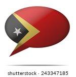 illustration speech bubble flag ... | Shutterstock .eps vector #243347185