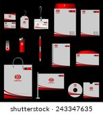 corporate identity template... | Shutterstock .eps vector #243347635