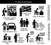 in case of hurricane typhoon... | Shutterstock .eps vector #243350191