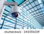 security camera  cctv on... | Shutterstock . vector #243350239