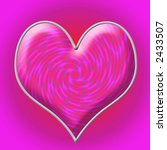 pink heart with abstract hearts ... | Shutterstock . vector #2433507