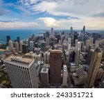 chicago downtown skyline with... | Shutterstock . vector #243351721