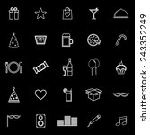 party line icons on black...   Shutterstock .eps vector #243352249
