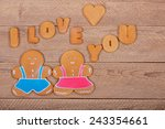 gingerbread men and the words ... | Shutterstock . vector #243354661