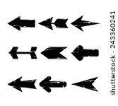 black grunge arrow buttons ... | Shutterstock .eps vector #243360241