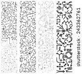 various arrows  big set of hand ...   Shutterstock .eps vector #243362761