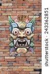 baron indonesian style mask... | Shutterstock . vector #243362851