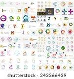 logo mega collection  abstract... | Shutterstock .eps vector #243366439