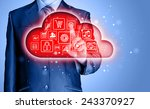 cloud computing touchscreen... | Shutterstock . vector #243370927