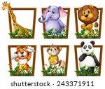 Illustration Of Many Animals I...