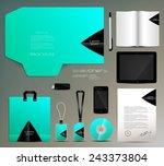 stationery set design identity... | Shutterstock .eps vector #243373804