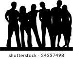 best friends  people silhouette ... | Shutterstock .eps vector #24337498