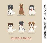 Set Of Dutch Dogs   Eps10...