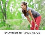 asian woman athlete runner...   Shutterstock . vector #243378721