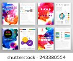 set of vector poster templates... | Shutterstock .eps vector #243380554