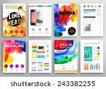 set of vector poster templates... | Shutterstock .eps vector #243382255