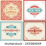 retro labels set. vector   file | Shutterstock .eps vector #243384049