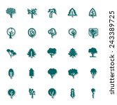 tree icon set 2 | Shutterstock .eps vector #243389725
