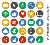 social media internet online... | Shutterstock .eps vector #243390754