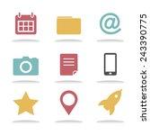 social media internet online... | Shutterstock .eps vector #243390775