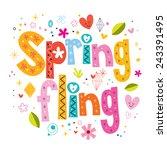 Постер, плакат: Spring fling