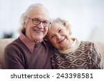casual pensioners looking at... | Shutterstock . vector #243398581