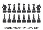 black chess set  symbol  icon ...