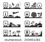 various industries with logos   ... | Shutterstock .eps vector #243401281