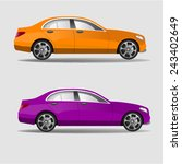 vector car in two colors. car... | Shutterstock .eps vector #243402649