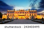the branicki palace and park in ... | Shutterstock . vector #243403495