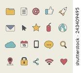 social media user interface... | Shutterstock .eps vector #243409495