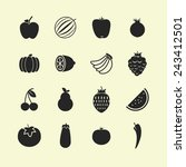 food icons | Shutterstock .eps vector #243412501