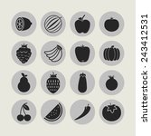 food icons | Shutterstock .eps vector #243412531