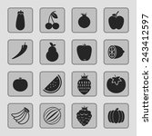 food icons | Shutterstock .eps vector #243412597