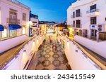 an evening view of albufeira ... | Shutterstock . vector #243415549