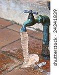 Outside Water Spigot Dripping...