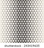 Vector seamless pattern. Modern stylish texture. Repeating geometric tiles from triangles. Monochrome grid with thickness which changing towards the center | Shutterstock vector #243419635